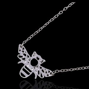 Jewelry - SILVER HONEY BEE PENDANT NECKLACE NEW